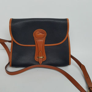 Dooney and Bourke Black and Brown Leather Purse